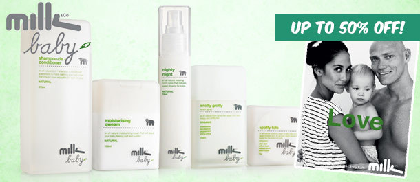 Up to 50% Off  Milk Baby All-Natural Baby Skincare , 1-Day Deal for From 7.61$ @ Catchoftheday.com.au