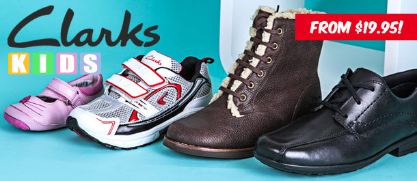 Up to 78% Off Clarks Footwear for Kids and Toddlers, 1-Day Deal for From 19.95$ @ Catchoftheday.com.au
