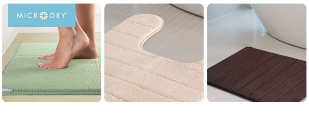 Microdry Memory Foam Bath/All Purpose Mats all half price.