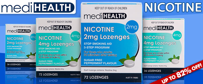 Save Up to 82% Nicotine Lozenges at Groceryrun.com.au
