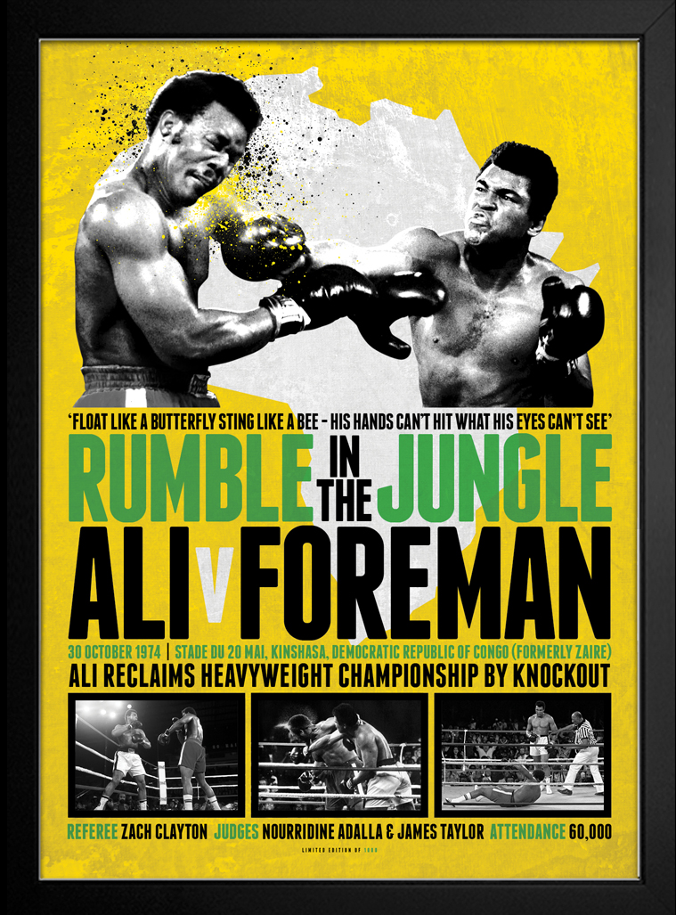 Muhammad Ali Rumble In The Jungle Framed Print Catch
