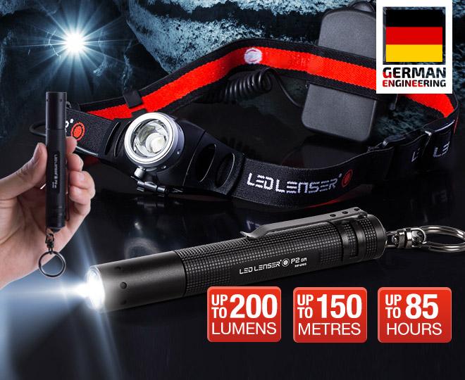 Led Lenser H7 Headlamp & P2 Mini Flashlight