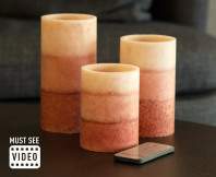 Flameless LED Scented Candles 3-Pack - Apple Cinnamon