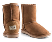 Australian Leather Short Classic Ugg Boots - Chestnut