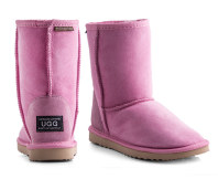Australian Leather Short Classic Ugg Boots - Pink