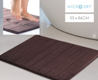 Microdry Memory Foam Large Bath Mat - Chocolate