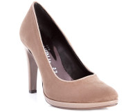 Made in Italia Suede Leather Pumps - Taupe - EU Women 36