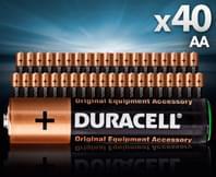 40x Duracell AA Alkaline Batteries