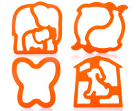 Lunch Punch Set of Four Critter Sandwich Cutters - Orange
