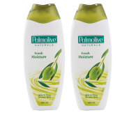 2x Palmolive Naturals Fresh Moisture Milk & Olive Shower Milk 500mL