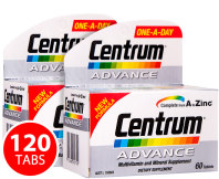 2x Centrum Advance Multivitamins 60 Tabs