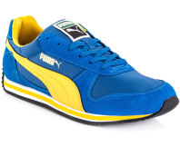 PUMA Men's Fieldsprint - Snorkel Blue/Spectra Yellow