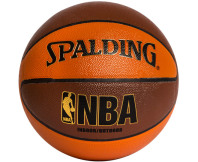 Spalding NBA 10 Panel Composite Basketball - Brown
