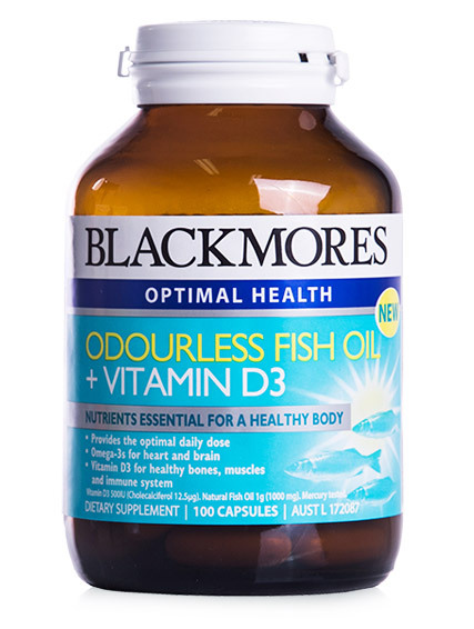 3x blackmores fish oil d3 odourless 100 tabs for Best fish oil to take
