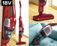 Airflo 2-In-1 Rechargeable Cordless Stick Vac Cleaner- Red