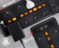 8-Outlet Connexia Surge Protected Powerboard