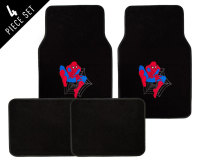 4 Piece Spider-Man Car Floor Mat Set