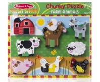 Melissa & Doug Chunky Puzzle Farm Animals