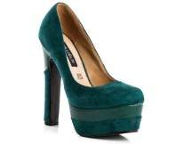Ana Lublin Suede Leather Platform - Verde
