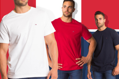 Tommy Hilfiger Men's Flag Tees