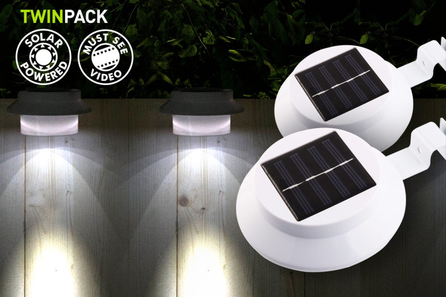 2 x 3-LED Portable Solar Lights