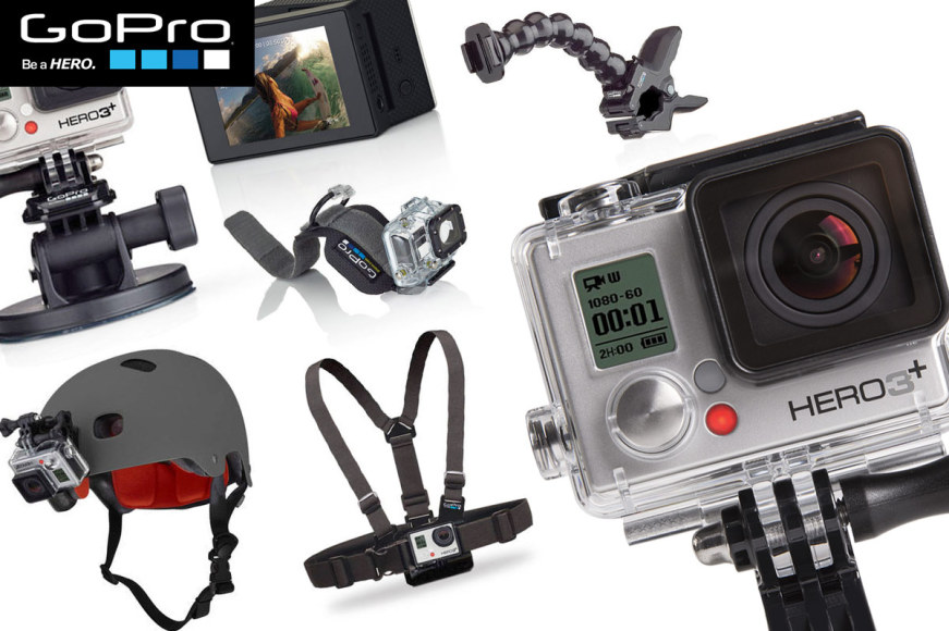 GoPro HERO3+ Silver & Accessories!