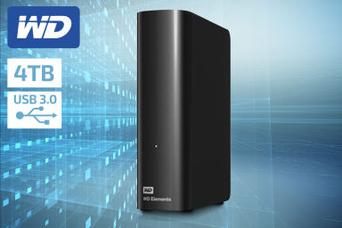 WD Elements 4TB USB 3.0 Desktop Hard Drive