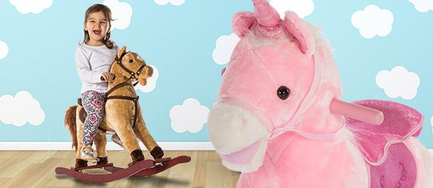 Kids' Rocking Horse & Unicorn!