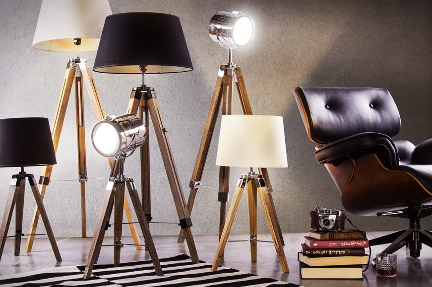 Contemporary Style Table & Floor Lamps