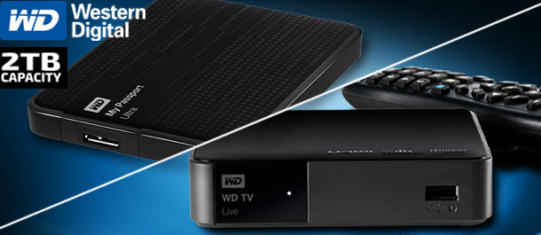 WD TV Live Media Player + WD 2TB HDD!