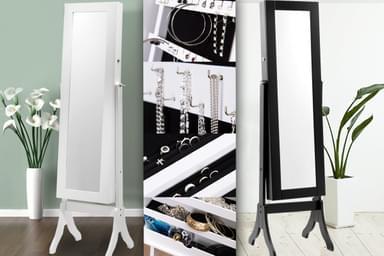 Mirrored Jewellery Cabinets