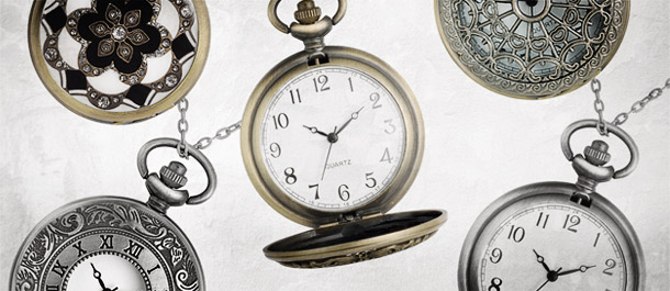 Vintage-Style Pocket Watch Necklaces