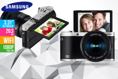 Samsung NX300M Camera w/ Power Zoom Lens
