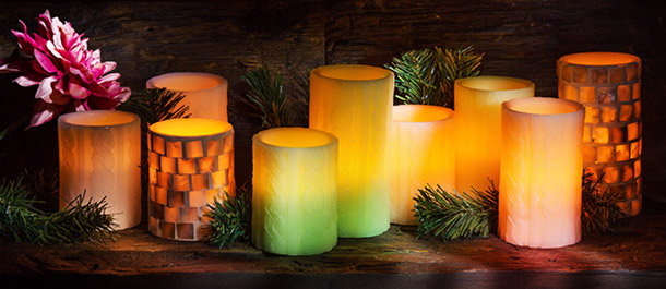 New Flameless Candles & Tealights