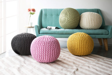 Handmade Knitted Ottomans