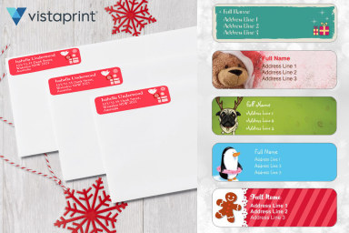 Custom Christmas Return Address Labels