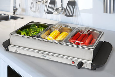 Three Tray Electric Buffet Food Warmer