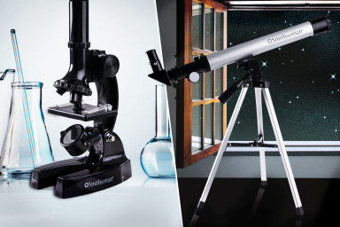 Microscope Kit & Telescope With Tripod