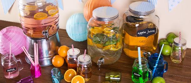 Mason Jars & Drink Dispensers