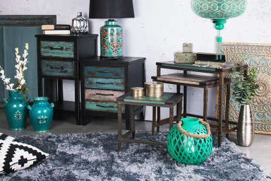 Oriental Teal & Silver Decor