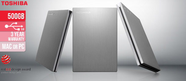 Toshiba Canvio 500GB Portable HDD