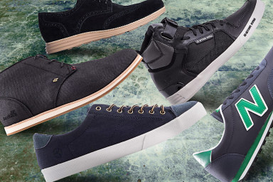 Men's Black & Navy Footwear Essentials