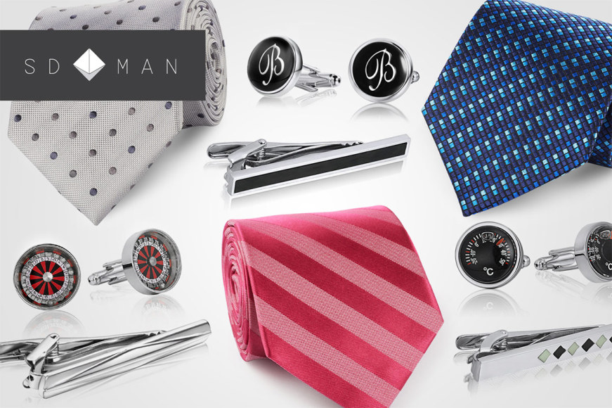 SD Man Cufflinks & Silk Ties