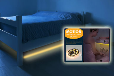 Motion Sensing LED Strip Bedlight