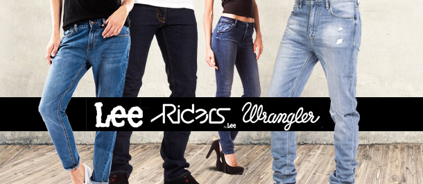 Huge Denim Sale: Lee, Wrangler & Riders By Lee