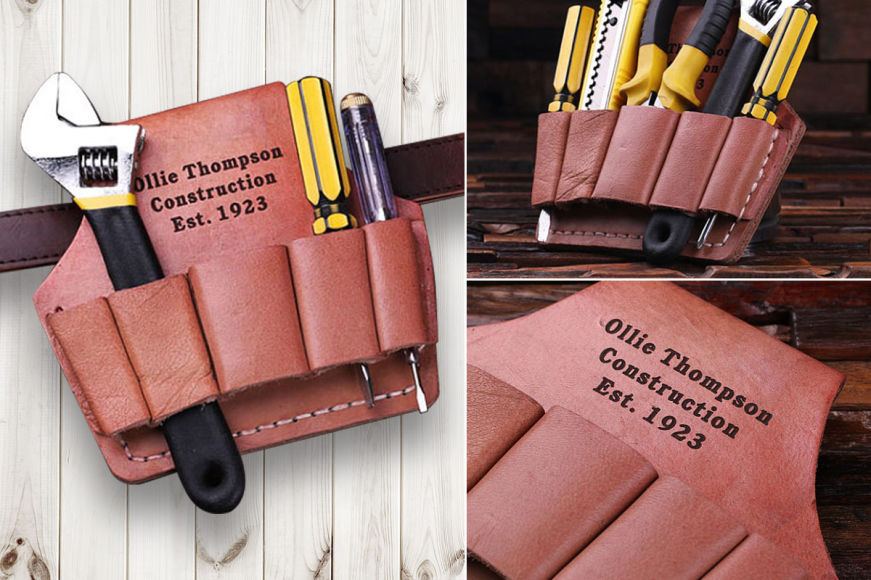 Personalised Genuine Leather Tool Belt