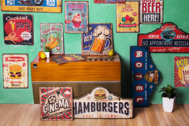 Retro Inspired Wall Plaques