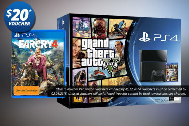 PS4 + GTA V + Far Cry 4 Bundle!