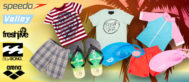 Kids' Summer Apparel, Footwear & Accessories