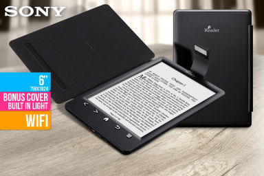 "Sony 6"" WiFi E-Reader With Case & Light"